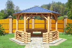Строим деревянную беседку