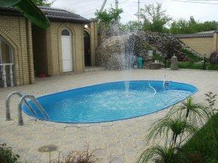 Установка фонтанов и водопадов для бассейнов