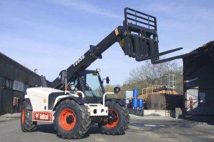 Использование телескопического погрузчика Bobcat для строительных работ, те ...