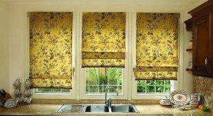 Декор окон с помощью различных видов штор